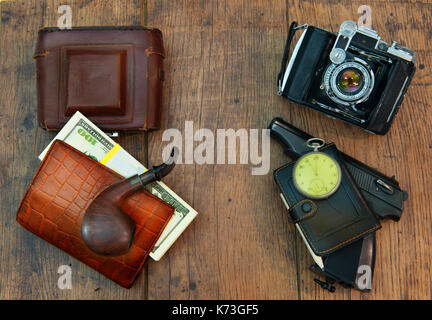 A gentleman's, a marching set of a creative photographer of the last century - Stock Photo