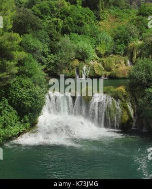 National Park KRKA Waterfall in Croatia - Stock Photo