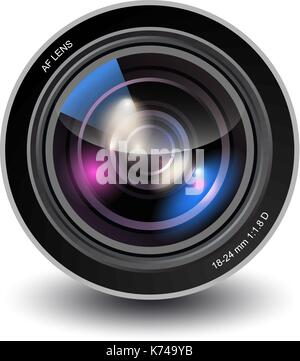 Vector camera lens - Stock Photo