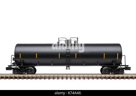 Railroad Tank Car A Black Railway Oil Tank Car On