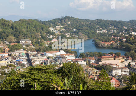 Kandy, Sri Lanka - February 12, 2017: World Heritage Kandy City, Sri Lanka, EDITORIAL - Stock Photo