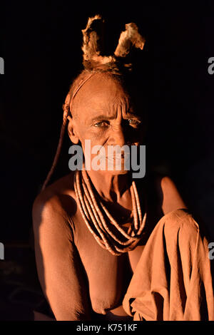 Portrait of an old woman, Kaokoveld, Kunene, Namibia