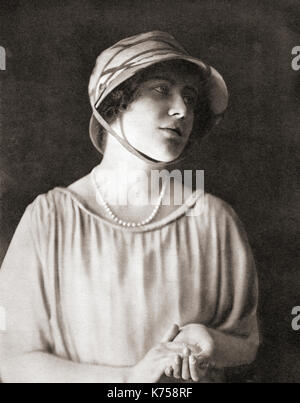 Lady  Elizabeth Angela Marguerite Bowes-Lyon, 1900 – 2002, seen here aged 21.  Future Duchess of York, Queen Elizabeth - Stock Photo