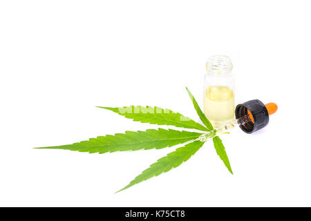 Cannabis CBD oil hemp products. - Stock Photo
