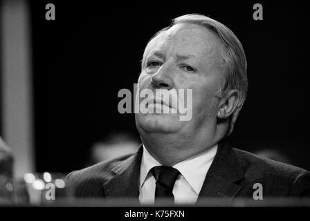 Ted Heath portrait Mr Edward Heath MP Prime Minister 1973 Conservative Party Conference Blackpool Winter Gardens - Stock Photo