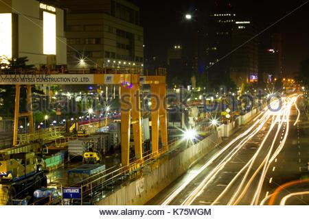 MRT Project in Jakarta, Indonesia - Stock Photo