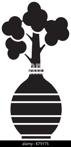 Plant in vase - Stock Photo