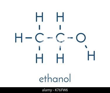 Molecular Structure Of Ethanol Alcohol Ethyl Alcohol 3d