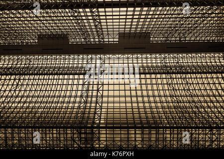 Kyoto, Japan - Nov 27, 2016. Dome of the JR Station in Kyoto, Japan. The station is the gateway to Kyoto and the - Stock Photo