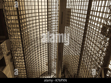 Kyoto, Japan - Nov 27, 2016. Dome of the modern building at JR Station in Kyoto, Japan. The station is the gateway - Stock Photo