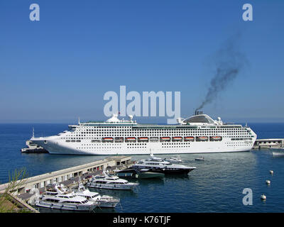 Cruise liner in Monte-Carlo - Stock Photo