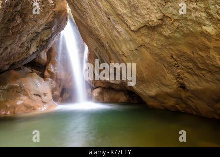Greece, Crete, Rethymnon district, Amari valley, Patsos, Agios Antonios Gorge (or Patsos Gorge) - Stock Photo