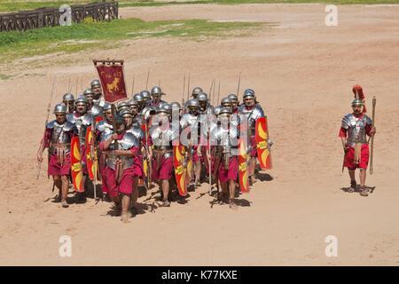 Jordan, Jerash, Roman Army and Chariot Experience, Roman-era military show, - Stock Photo