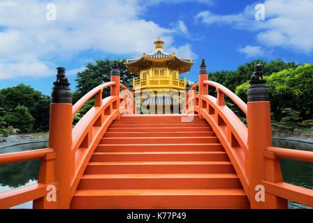 Pavilion Of Absolute Perfection In Nan Lian Garden, Chi Lin Nunnery, Hong Kong, China - Stock Photo