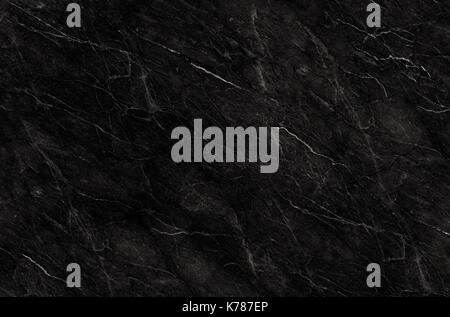 Black marble natural pattern for background, abstract black and white, granite texture - Stock Photo