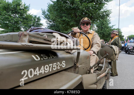 US Air Force reenactors of World War II participate in the National Memorial Day Parade - Washington, DC USA - Stock Photo
