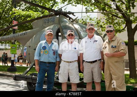 North Carolina Helicopter Pilots Association (NCVHPA) participating in the National Memorial Day parade - Washington, - Stock Photo