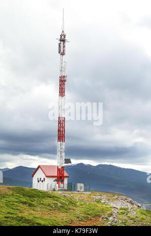 Telecommunication tower (antenna) - Stock Photo