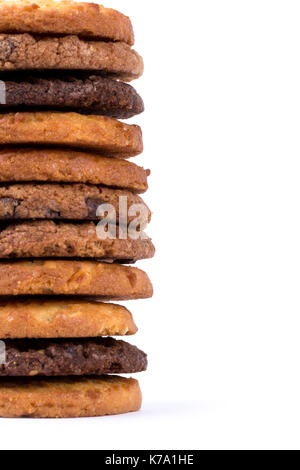 mix cookies in white - Stock Photo
