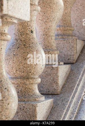 Granite column capital - Stock Photo