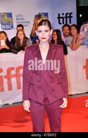 Toronto, Ontario, Canada. 15th Sep, 2017. Actress KATE MARA attends the 'My Days Of Mercy' premiere during the 2017 - Stock Photo