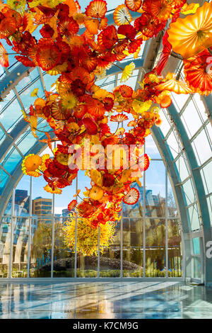 Dale Chihuly Glass Ceiling Sculptures At The Franklin Park Stock Photo 40156435 Alamy