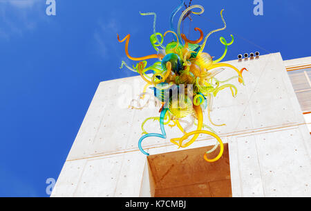 LA JOLLA, CA-AUG. 11: A glass sculpture by Dale Chihuly on display at the Salk Institute in La Jolla on August 11, - Stock Photo