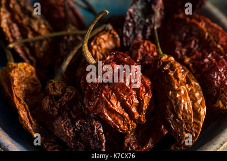Super Hot Spicy Scorpion Bhut Jolokia Pepper Ready to Use - Stock Photo