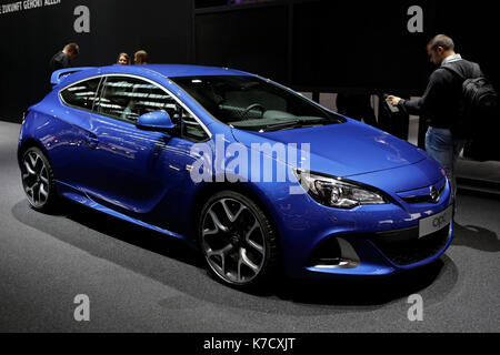 Frankfurt, Germany. 14th Sep, 2017. The German car manufacturer Opel presents the Opel opc at the 67. IAA. The 67. - Stock Photo