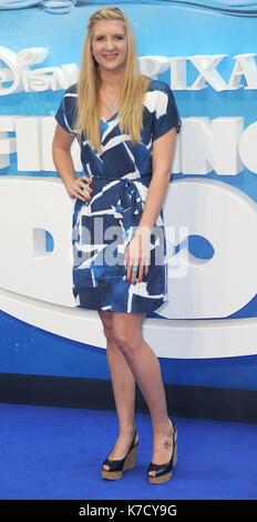 Photo Must Be Credited ©Alpha Press 080001 10/07/2016 Rebecca Adlington Finding Dory Premiere at Odeon Leicester - Stock Photo