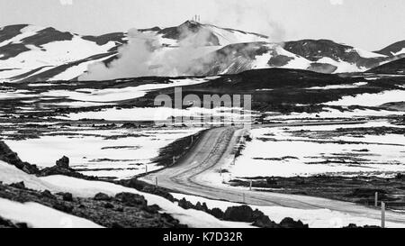 The Barren Landscape Of Iceland From Grjotagia - Stock Photo