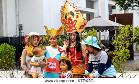 Recreation at Kota Tua or Old Town in Jakarta City, Indonesia - Stock Photo