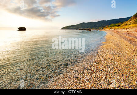 Limenia Beach near Poros,Kefalonia,Greece - Stock Photo