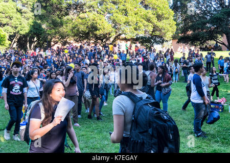 BERKELEY, CA- Apr 17, 2016: Students of Color at UC Berkeley gather for a group photograph on Cal Day, the annual - Stock Photo
