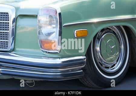 San Diego, CA/USA - October 15, 2016: San Diego Cars & Coffee car show where local car enthusiasts meet monthly - Stock Photo