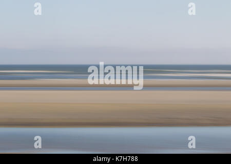 Abstract shot of beach and sea on the north sea island Juist, East Frisia, Germany, Europe. - Stock Photo