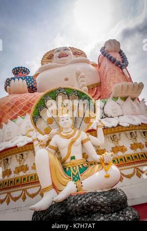 Budai at Wat Plai Leam, a Buddhist temple on the island of Ko Samui, Thailand. - Stock Photo