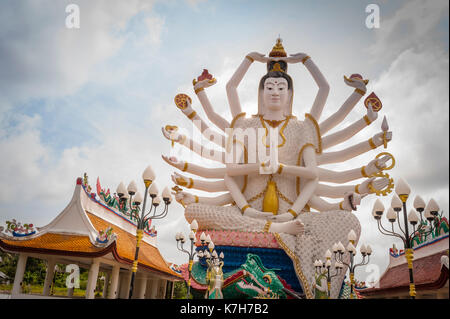 Guanyin, a the goddess of mercy and compassion at Wat Plai Leam, a Buddhist temple on the island of Ko Samui, Thailand. - Stock Photo