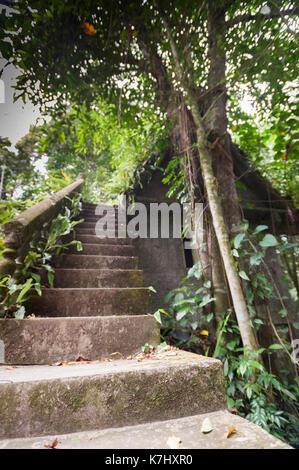 Starcase at the Secret Buddha Garden, Koh Samui, Thailand - Stock Photo