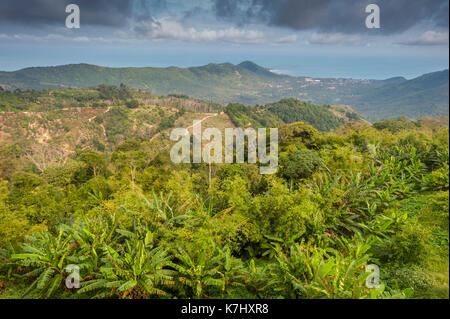 View over the island of Koh Samui, Thailand. - Stock Photo