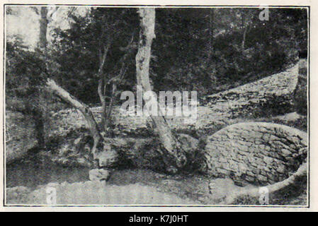 A 1914 historic photograph of the (sometimes disputed) source of the river Thames (London) near village of Kemble - Stock Photo