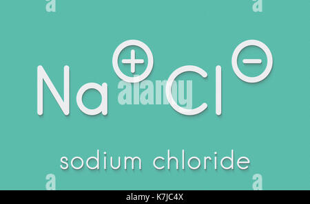 Sodium Chlorite Chemical Structure Skeletal Formula Stock Photo