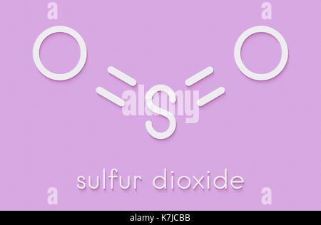 Sulphur Dioxide Food Preservative Molecule E220 Also Used In