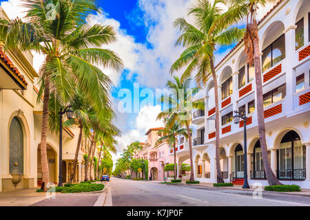 Palm Beach, Florida, USA at Worth Ave. - Stock Photo