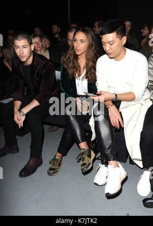 Photo Must Be Credited ©Kate Green/Alpha Press 079965 08/01/2016 Nick Jonas and Chloe Green Topman Designs Fashion - Stock Photo