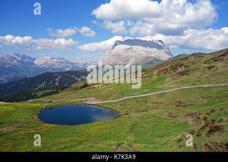Lake in the mountains - Stock Photo