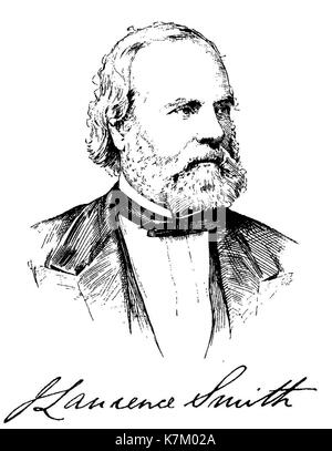 JOHN LAWRENCE SMITH (1818-1883) American chemist who invented the inverted microscope - Stock Photo