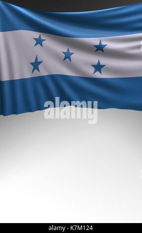 Flag Honduras render, Honduran Flag (3D Render) - Stock Photo