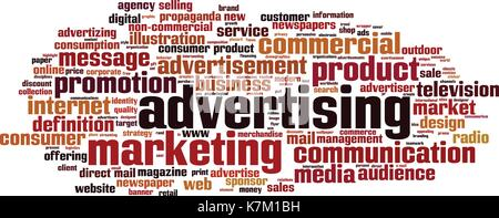 Advertising word cloud concept. Vector illustration - Stock Photo