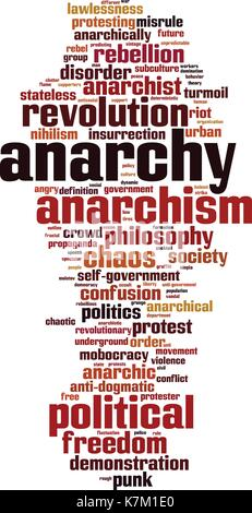 Anarchy word cloud concept. Vector illustration - Stock Photo